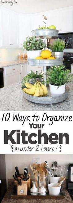 10 Ways to Organizing Your Kitchen {In Under 2 hrs) - Organization Junkie