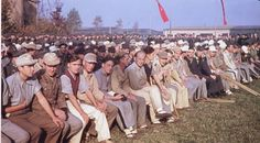 German World War 2 Colour Allied Propaganda Picture Of German POWs In US Camp