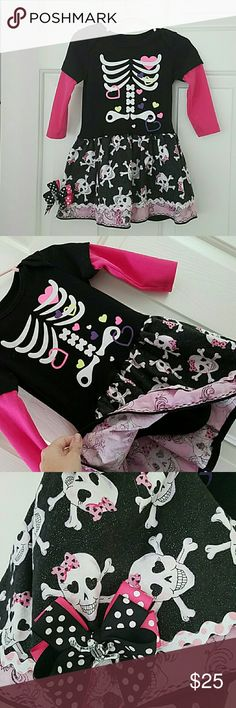 Cute dress or halloween costume! Its a dress onsie type, fits size 1-2 toddler.... perfect condition! Worn once for halloween 2015. Boutique style dress. Unique??  *buy the pink glitter toms to match! Costumes Halloween
