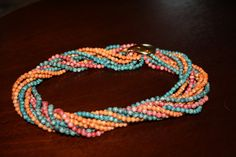 80s twist a bead necklace