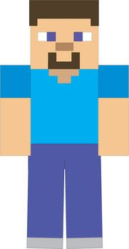 Man, Minecraft, Party Decorations - Free Printable Ideas from Family Shoppingbag.com