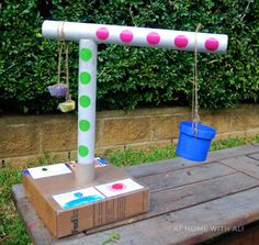 At home with Ali-instructions for making a crane out of tubes