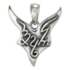 Theban Pan Pendant in .925 Sterling Silver by Dryad Design - Greek Horned God Wiccan Pagan Pan amulet
