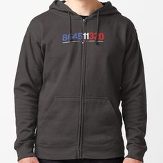 """864511320 Anti Trump Impeach Vote out 45 President 2020"" Zipped Hoodie by layans4design 