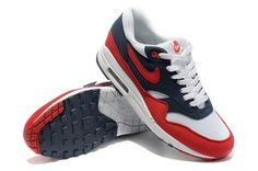 competitive price 013ee e711f Nike Air Max 1 White Womens 87 Shoes Red,  75.44   www.buynike.