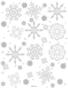 Free printable coloring pages - Free Snowflake Template Easy Paper Snowflakes To Cut And Color – Free printable coloring pages Coloring Pages For Grown Ups, Easy Coloring Pages, Free Adult Coloring Pages, Disney Coloring Pages, Free Printable Coloring Pages, Snowflake Outline, Snowflake Stencil, Snowflake Cutouts, Snowflake Template