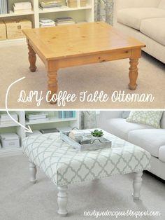 Vintage DIY Shabby Chic Ottoman Furniture Ideas   http://diyready.com/12-diy-shabby-chic-furniture-ideas/ #ottomanmakeoverideas