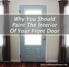 Paint Interior Front Door