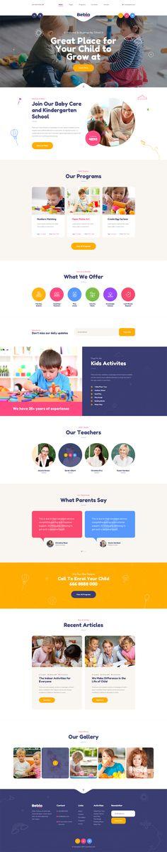 Kindergarten & Baby Care PSD Website Template - 11 PSD Files