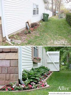 #2. Make a side yard makeover for improving home's curb appeal.
