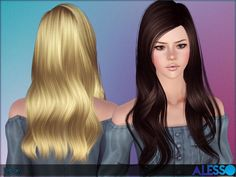 Urban slightly curled tips hairstyle by Alesso for Sims 3 - Sims Hairs - http://simshairs.com/urban-slightly-curled-tips-hairstyle-alesso/