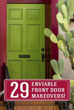 Come get some inspiration with these 29 front door makeovers!