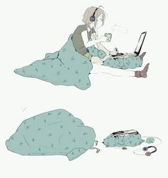 anime, sleep, and music image