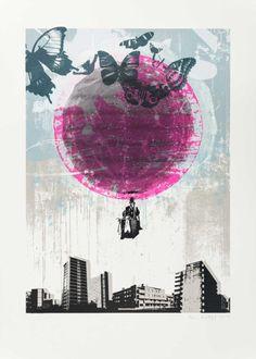 Escape Neon Screenprint by Ben Dodge | Artfinder