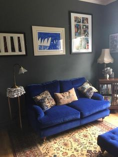 Here's our beautiful Gosfield sofa in a lush velvet fabric from Linwood's Omega collection.Thank you @viewfrom_mywindow on Instagram for sharing this photo of your beautifully styled sitting room with us