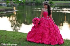 Quinceanera. Love the pose and the dress!