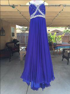 A-Line Beading Custom Made Prom Dresses, Floor-Length Evening Dresses,Prom Dresses