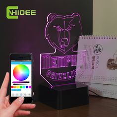 Find More Night Lights Information about CNHIDEE USB Novelty 3D Music Night Light for Grizzlies Basketball Team Bluetooth LED Table Lamp as Home Decor Fantasia Infantil,High Quality usb sata hdd enclosure,China usb indicator light Suppliers, Cheap usb led computer light from BORSCHE (HK) Electronic Co.,Ltd.  on Aliexpress.com