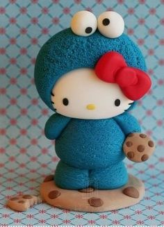 Hello kitty el mounstro de galletas Hello Kitty Fondant, Hello Kitty Cake, Hello Kitty Birthday, Sanrio Hello Kitty, Fimo Clay, Polymer Clay Projects, Walpaper Hello Kitty, Hello Kitty Merchandise, Hello Cute