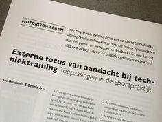 Fontys Sporthogeschool docent Jos Goudsmit in Tijdschrijft Sportgericht: Externe focus van aandacht bij techniektraining