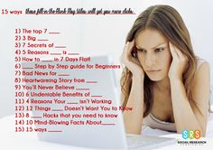 """15 Ways These """"Fill-in-the-Blank"""" #Blog Titles Will Get You More Clicks, 