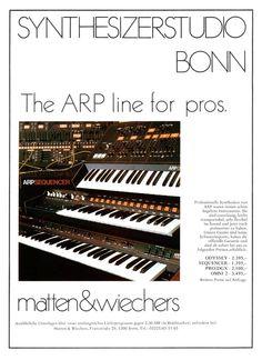 ARP Synthesizer Anzeige 1979