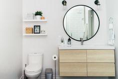 #IKEA vanity #Godmorgon #UMBRA Hub mirror