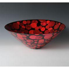SAIHAKU MIZUTAMAMON HACHI (Pot with Polka Dot design Coloured Foil)