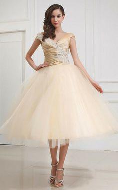 Prinzessin niedrige Taille langes Abiballkleid/ Süß 14 Geburtstag Kleid mit Applike mit Perlen