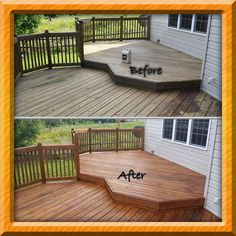 Deck Makeover   Olympic Maximum (6 Year Protection) Cedar Naturaltone  Semi Transparent Exterior Stain. This Project Took 3 Days All Done By Hand  With A ...