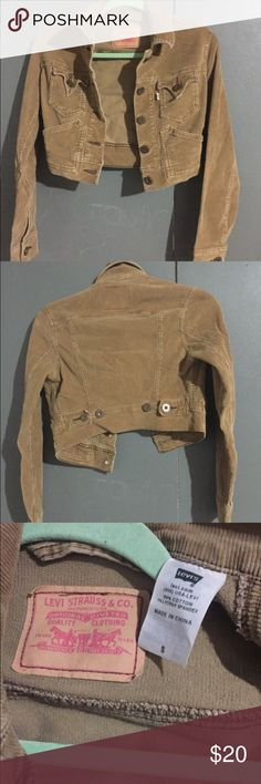 Levi's corduroy jacket Levi's women's size small corduroy jacket. In excellent used condition.😊👍🏽 Levi's Jackets & Coats