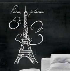 Torre Eiffel, París Vinilo Wall Decals Calcos Art # 007