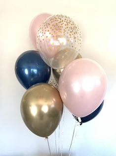 Pink Blush Balloons Blush and Navy Balloons Gold and Blush image 6 Gender Reveal Party Decorations, Baby Gender Reveal Party, Gold Party Decorations, Baby Shower Decorations For Boys, Bridal Shower Decorations, Gender Reveal Balloons, Navy Bridal Shower, Blush Bridal Showers, Navy Baby Showers