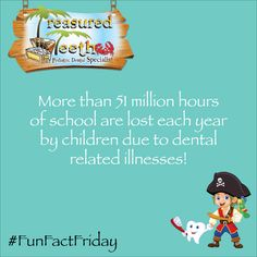 Don't forget to schedule Back-To-School dentist appointments for your kids! #FunFactFriday