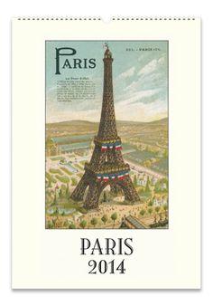 "Cavallini 2014 ""Paris"" Wall Calendar from Evans and Hall #ChristmasWishList"