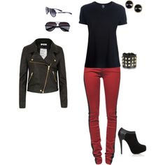 """biker chick"" by lct5003 on Polyvore"