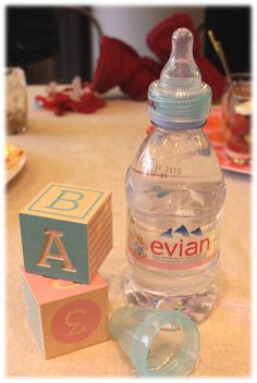 Evian Water Bottle, Water Bottle Labels, Packaging, Creative Advertising, Bottle Design, Label Design, Photoshop, Aqua, Products
