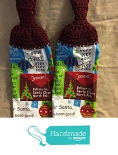 Free shipping to USA included in price - 2 CROCHET KITCHEN hand TOWEL LIGHT weight terry cloth - Christmas Theme Good Santa - Claret (dark burhgundy) 100% acrylic yarn top - smoke free - pet free from PMSCRAFTS https://www.amazon.com/dp/B071CFSQCJ/ref=hnd_sw_r_pi_dp_Z.-7ybAJ7TCVP #handmadeatamazon