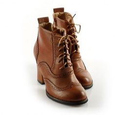 $27.44 British Style Women's Boots With Lace-Up and Zipper Design