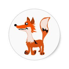 Funny Red Fox Art Stickers #foxes #stickers #funny #animals #red And www.zazzle.com/naturesmiles*