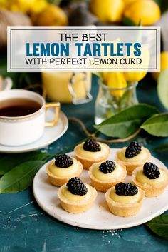 An easy recipe for lemon tartlets with lemon curd. Sweet pastry shells make the perfect container for the best lemon curd ever - it's so silky and smooth. Lemon Dessert Recipes, Lemon Recipes, Tart Recipes, Baking Recipes, Kitchen Recipes, Bite Size Desserts, Mini Desserts, Easy Gluten Free Desserts, Easy Desserts
