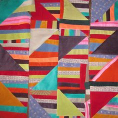 corduroy quilt in the Style of Anna Williams by Deb Rowden