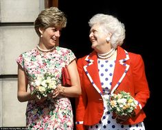 Princess Diana and Barbara Bush visit AIDS sufferers at a clinic in the Middlesex Hospital in London in July 1991. Her work changing perceptions of those suffering from AIDs was part of the First Lady's legacy.