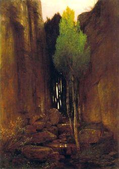 Arnold Bocklin Source between two rocky escarpments. 1881.