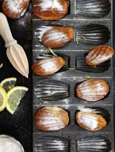 Madeleines made without refined sugar & flavoured with lemon   drizzld.com