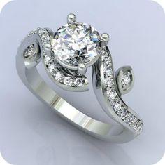 Chic Diamond Wedding Ring - Etsy:  Fabiana Jewels