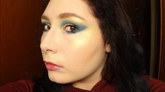 Golden & Blue Winged Eyeshadow - Dramatic & Colorful Makeup Tutorial