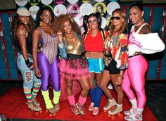80'S SKATE PARTY | Her castmates Jackie Christie, Laura Govan , Draya Michele, Brooke ...