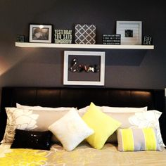 This is someone else's, by I love all the colors plus the wall decor. My new bedroom decor above our bed! #iminlove ❤