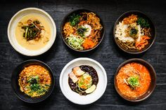 mŏkbar is a ramen shop in Chelsea Market that combines traditional Korean soups with fresh Japanese ramen noodles for a unique noodle experience.